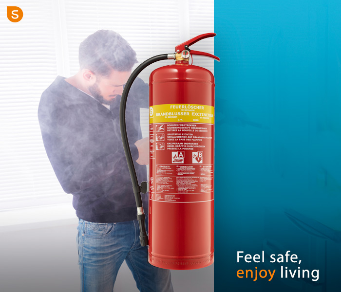 Fire extinguishers: different types